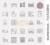 interiors furniture line icon... | Shutterstock .eps vector #711523843