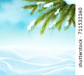 realistic winter background | Shutterstock .eps vector #711532360