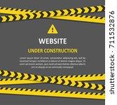 under construction background.... | Shutterstock .eps vector #711532876