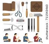 skinner tools decorative icons... | Shutterstock .eps vector #711543460
