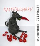 black rat with red chili  ... | Shutterstock . vector #711546154