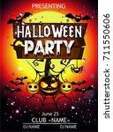 halloween party cartoon | Shutterstock .eps vector #711550606