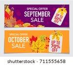 creative autumn september and... | Shutterstock .eps vector #711555658