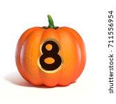 Halloween Pumpkin Font Number ...