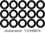 old tires isolated on white... | Shutterstock . vector #711558874