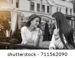communication and friendship... | Shutterstock . vector #711562090