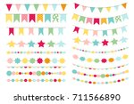 party flags  buntings for... | Shutterstock .eps vector #711566890