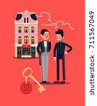 cool vector flat design on... | Shutterstock .eps vector #711567049