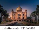 safdarjung tomb is a sandstone... | Shutterstock . vector #711568408