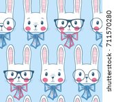 seamless pattern with cute... | Shutterstock .eps vector #711570280