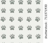 cat or dog paw seamless pattern ... | Shutterstock .eps vector #711571930