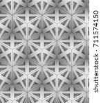 monochrome geometric 3d graphic ... | Shutterstock . vector #711574150