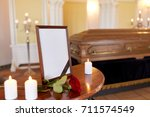 funeral and mourning concept  ... | Shutterstock . vector #711574549