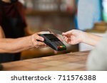 modern technology and people...   Shutterstock . vector #711576388