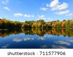 Church Pond In Fall With...