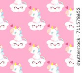 pattern with magical unicorn....   Shutterstock .eps vector #711578653