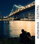 Night Scene In New York City