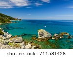 the picturesque coast of the... | Shutterstock . vector #711581428
