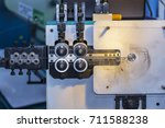 close up roller feed unit of... | Shutterstock . vector #711588238