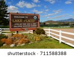 lake placid  ny  usa   sep. 26  ...   Shutterstock . vector #711588388