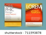 abstract paper cut brochure... | Shutterstock .eps vector #711593878
