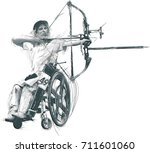 archery. from the series silent ... | Shutterstock .eps vector #711601060