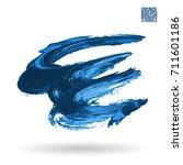 blue brush stroke and texture....   Shutterstock .eps vector #711601186