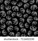 elegant seamless pattern with... | Shutterstock .eps vector #711602230