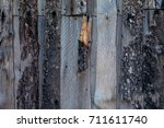 the texture of the wood. an old ... | Shutterstock . vector #711611740