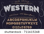 font handwritten vector... | Shutterstock .eps vector #711615268