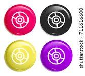 cd multi color glossy badge...