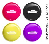 yatch multi color glossy badge...