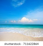 beach and tropical sea | Shutterstock . vector #711622864