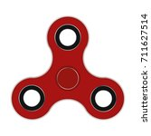 red hand spinner vector... | Shutterstock .eps vector #711627514