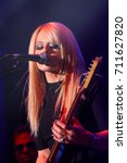 orianthi performs at the 10th... | Shutterstock . vector #711627820