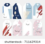 hand drawn creative tags.... | Shutterstock .eps vector #711629314