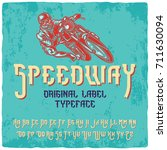 vintage label typeface named ... | Shutterstock .eps vector #711630094