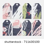 hand drawn creative tags.... | Shutterstock .eps vector #711630100