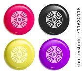 wheel multi color glossy badge...
