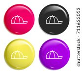 cap multi color glossy badge...