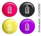 rocket multi color glossy badge ...