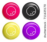 moon multi color glossy badge...