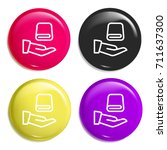 towel multi color glossy badge...