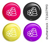 stones multi color glossy badge ...