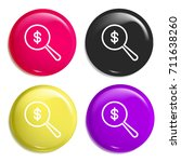 dollar multi color glossy badge ...