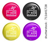 travel multi color glossy badge ...