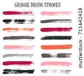 modern watercolor daubs set ... | Shutterstock .eps vector #711642418