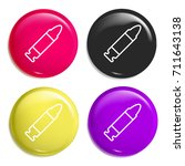 bullet multi color glossy badge ...