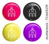 helmet multi color glossy badge ...
