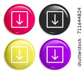 down multi color glossy badge...